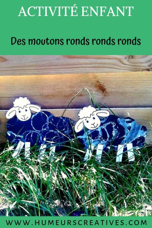 bricolage pour enfants : des moutons à la peinture