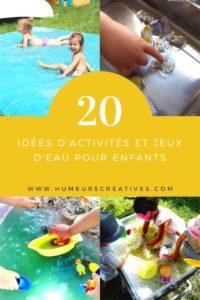 Des idées de jeux d'eau pour les enfants