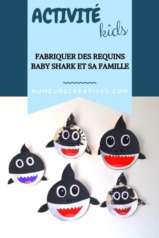 Bricolage pour enfants : fabriquer Baby shark avec une assiette en carton