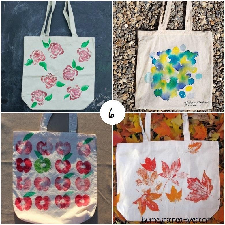 sac en coton à décorer pour cadeaux maîtres et maîtresses