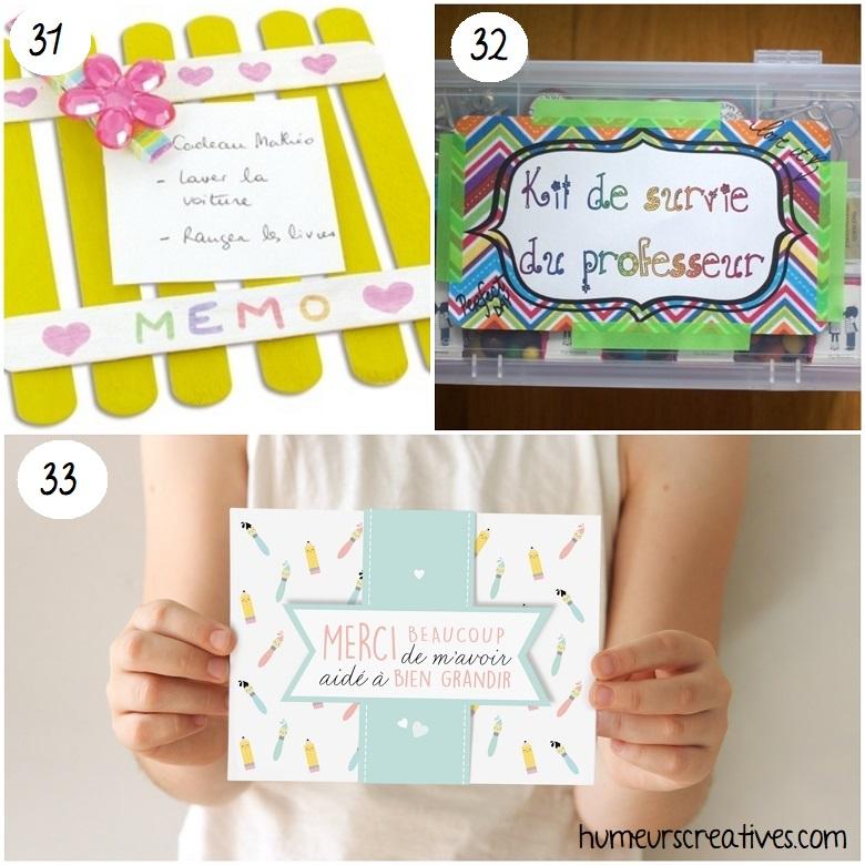 idées de cadeaux faciles à faire avec les enfants pour les maîtres et maîtresses