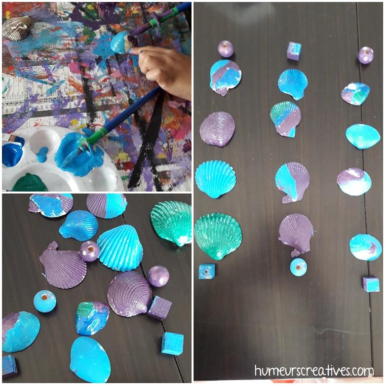 peindre sur des coquillages