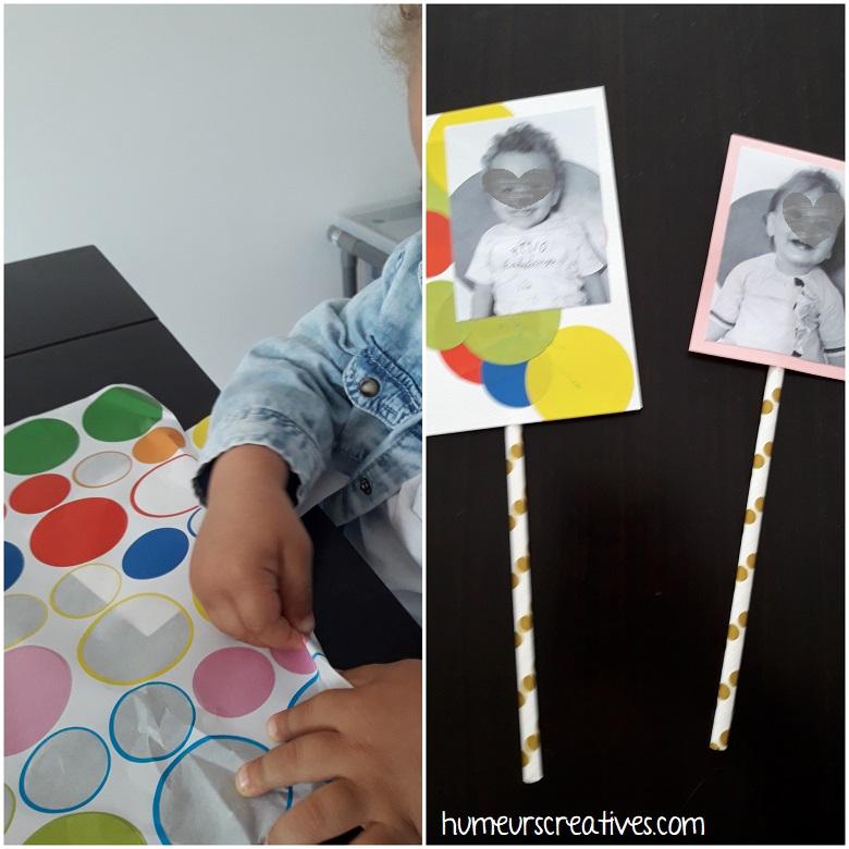 cadre avec photo de l'enfant