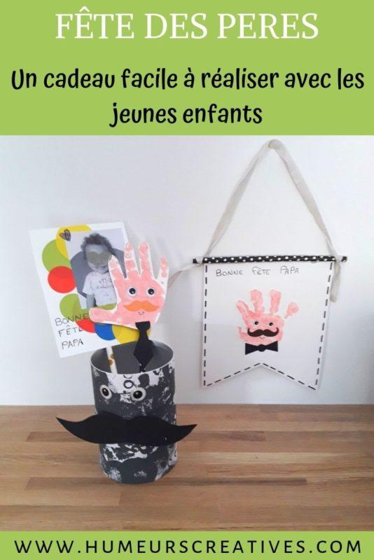 Bricolage pour enfants pour la fête des Pères : fabriquer un pot Monsieur et un fanion