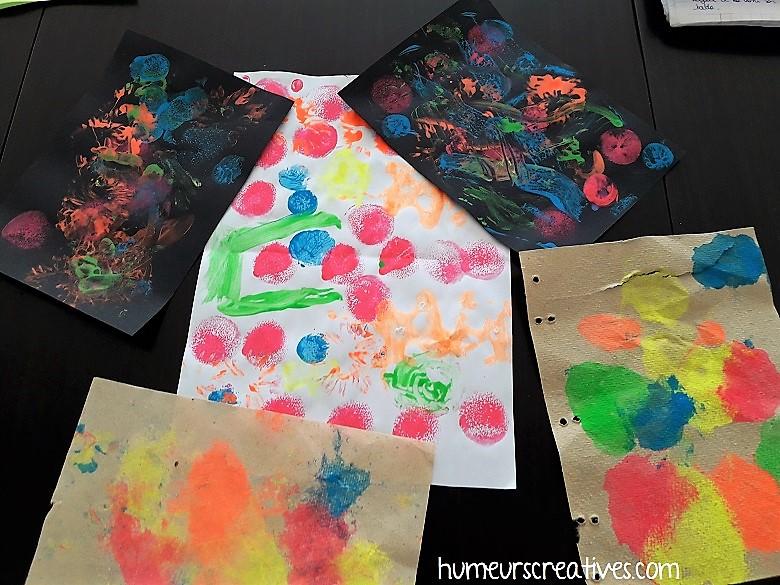 peinture des enfants