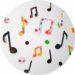 Bricolage pour la fete de la musique : des notes de musique en peinture à faire avec les enfants