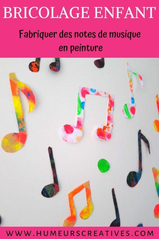 Bricolage pour enfant : des notes de musique en peinture