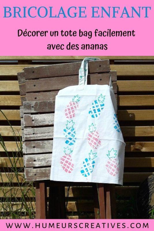 Un tote bag à décorer par les enfants pour offrir à la maîtresse