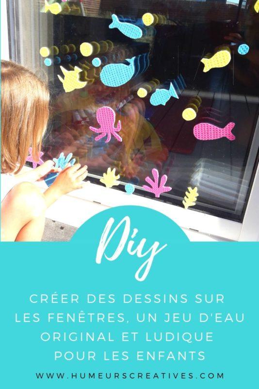jeu d'été pour enfants : créer des dessins sur les fenêtres avec des éponges