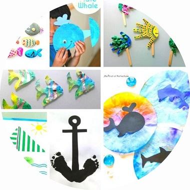 Bricolages pour enfants sur le thème de la mer et de l'océan