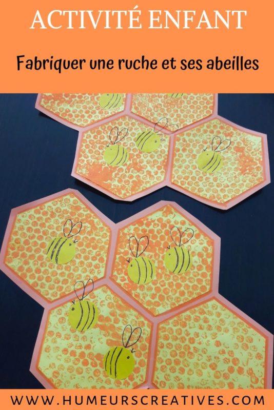 Activité peinture pour enfant : réaliser une ruche et des abeilles