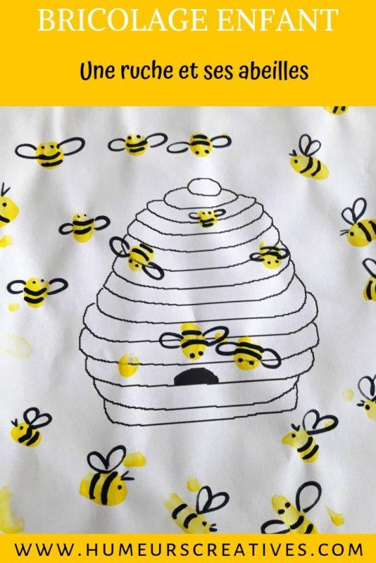 Bricolage pour enfants : des abeilles en empreintes de doigts