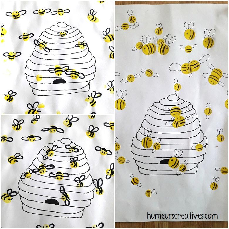 les ruches avec les abeilles