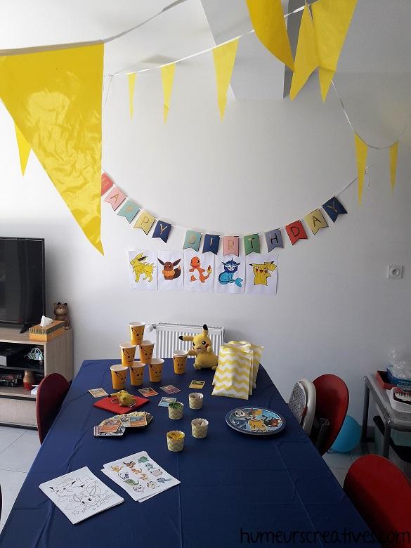 décoration Pokémon pour un anniversaire enfant