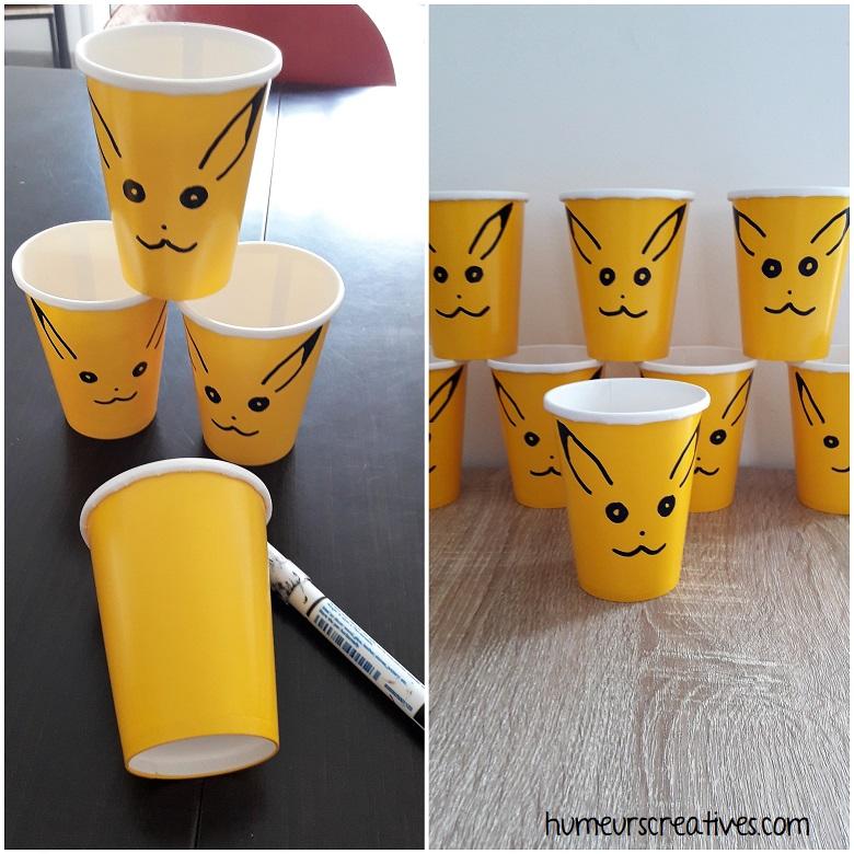 Anniversaire Pokémon : des verres jaunes Pikatchu