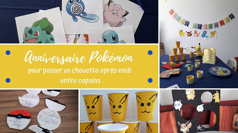 Anniversaire pokémon : idées de décorations et d'animations pour enfants