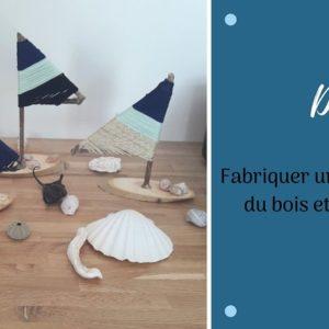 DIY bateau en bois et en laine pour une déco tendance sur le thème de la mer