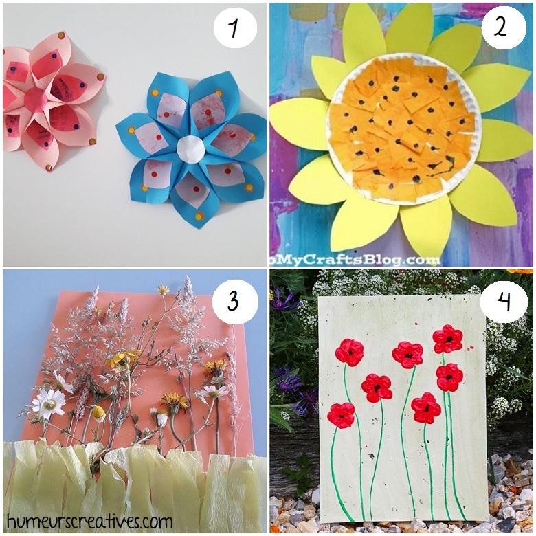 des idées de bricolages de fleurs d'été