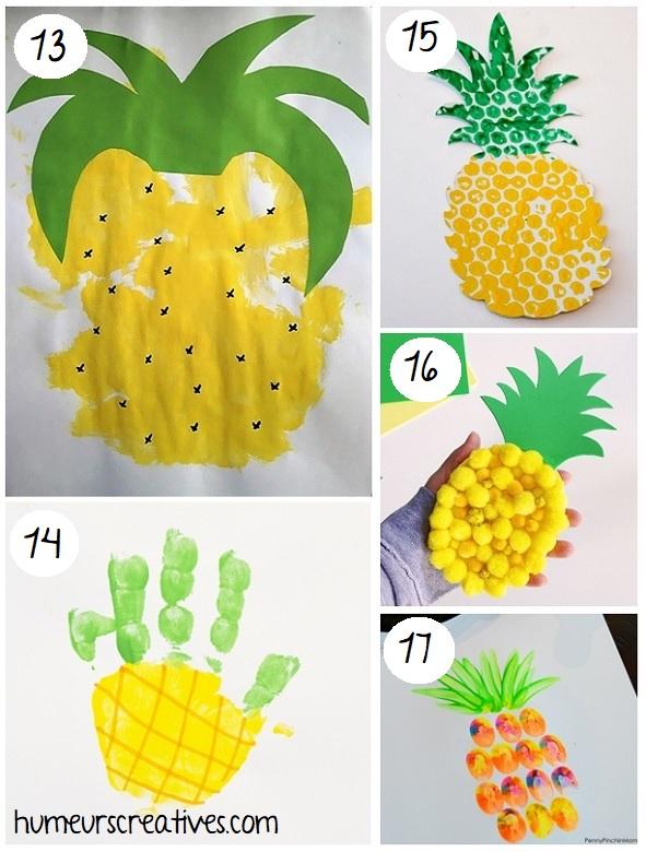 des bricolages d'ananas