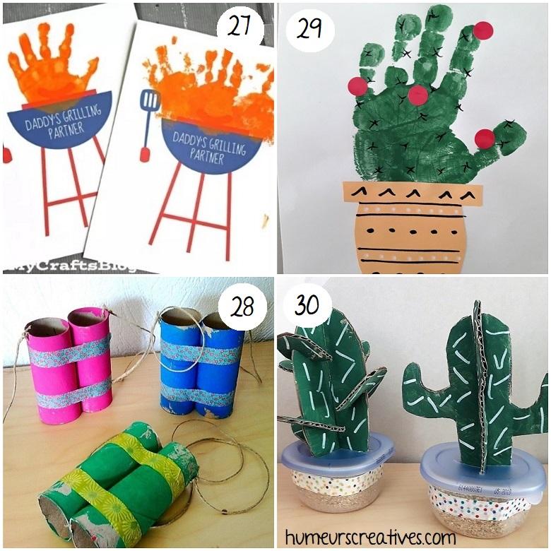 des bricolages d'été pour enfants