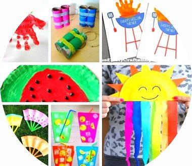 Des idées de bricolages pour l'été pour les enfants