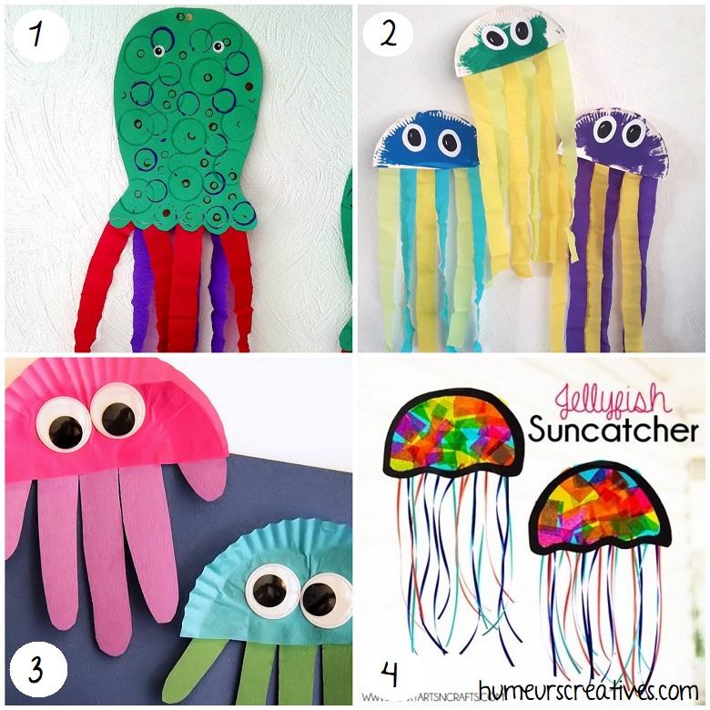 Bricolages de méduses pour enfants