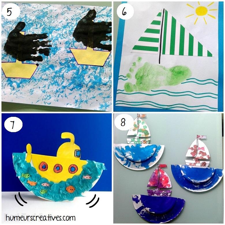 Bricolages de bateaux pour enfants