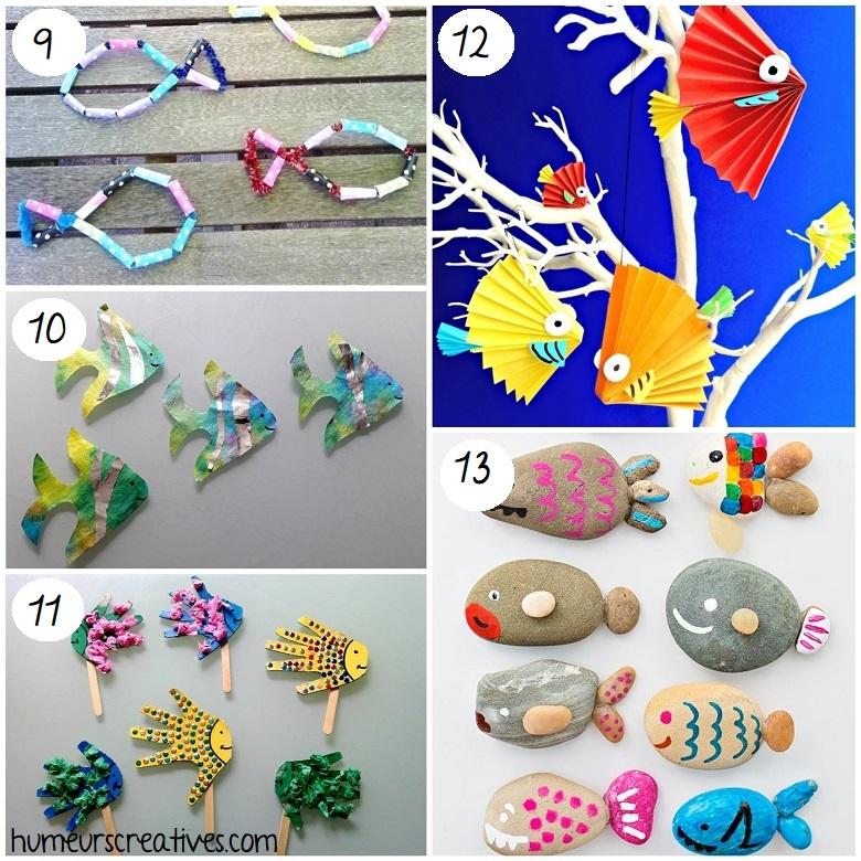 Bricolages de poissons pour enfants
