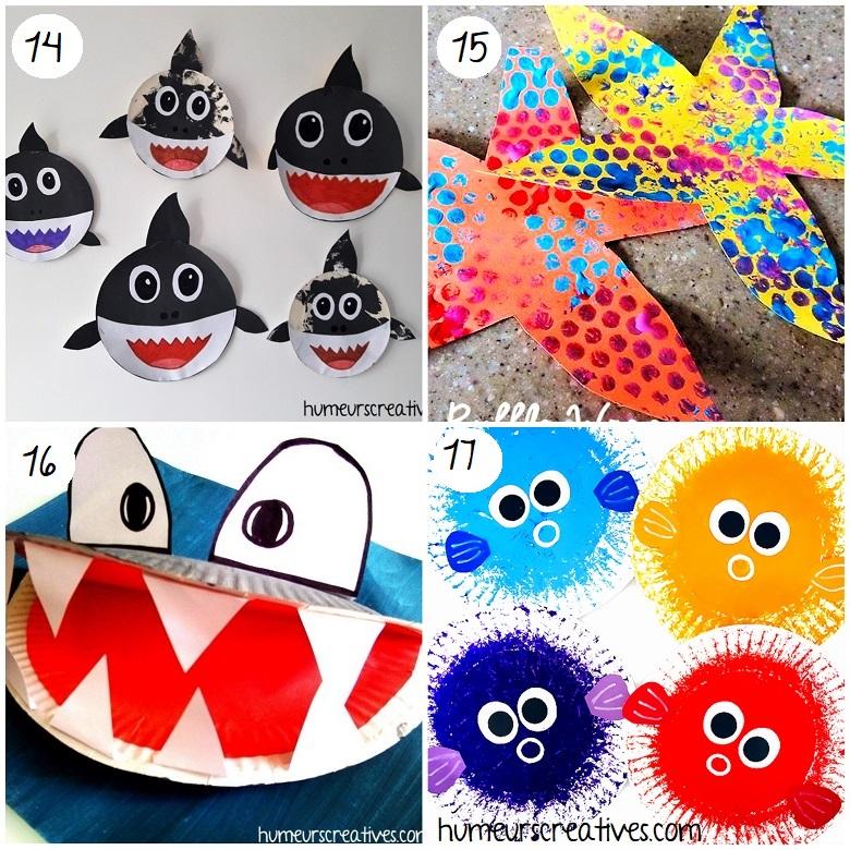 Bricolages d'animaux marins pour enfants