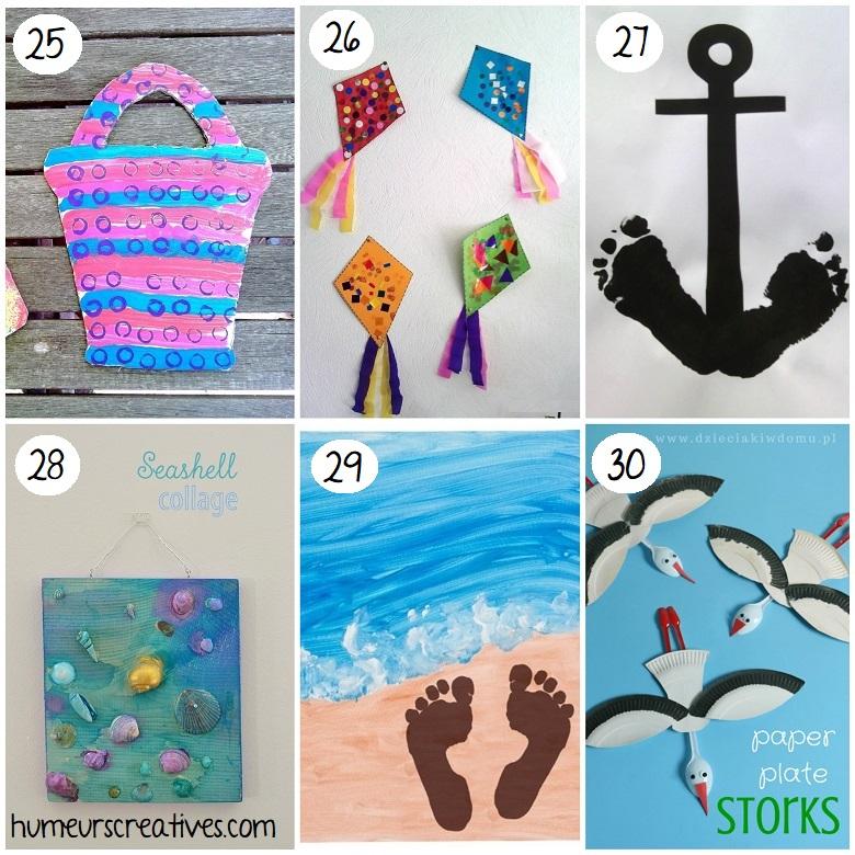 Bricolages sur le thème de la plage pour enfants