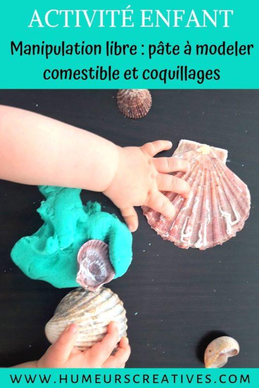 Activité pâte à modeler sur le thème de la mer avec des coquillages