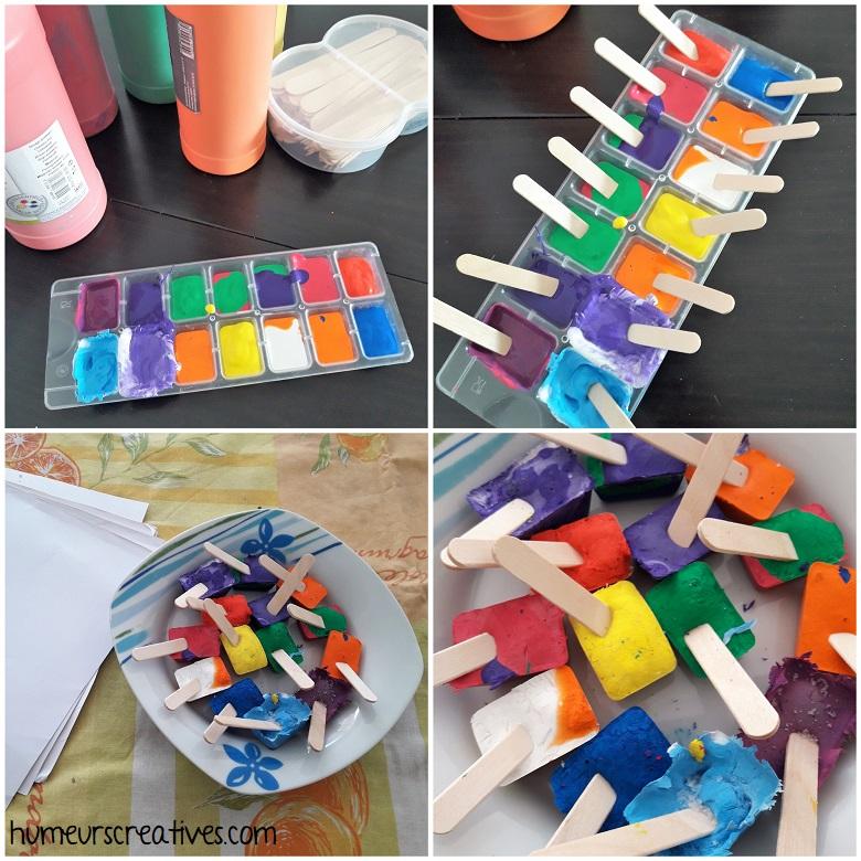 les différentes étapes de la recette de la peinture glacée