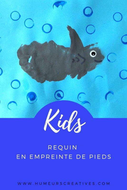 Bricolage pour enfant : réaliser un requin en empreinte de pied