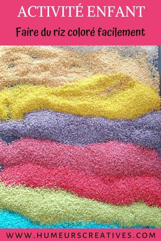 La recette du riz coloré + activités à faire avec les enfants