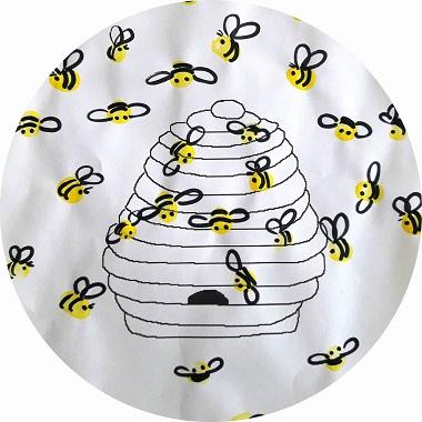 abeilles en empreintes de doigts