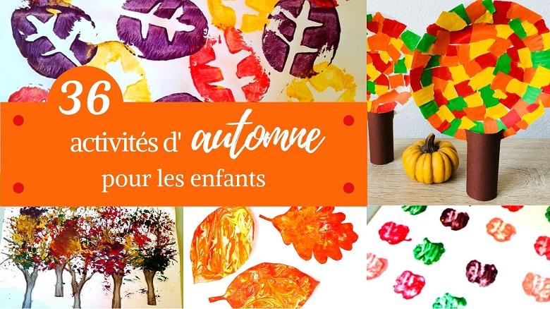 Des activités et bricolages d'automne pour les enfants.