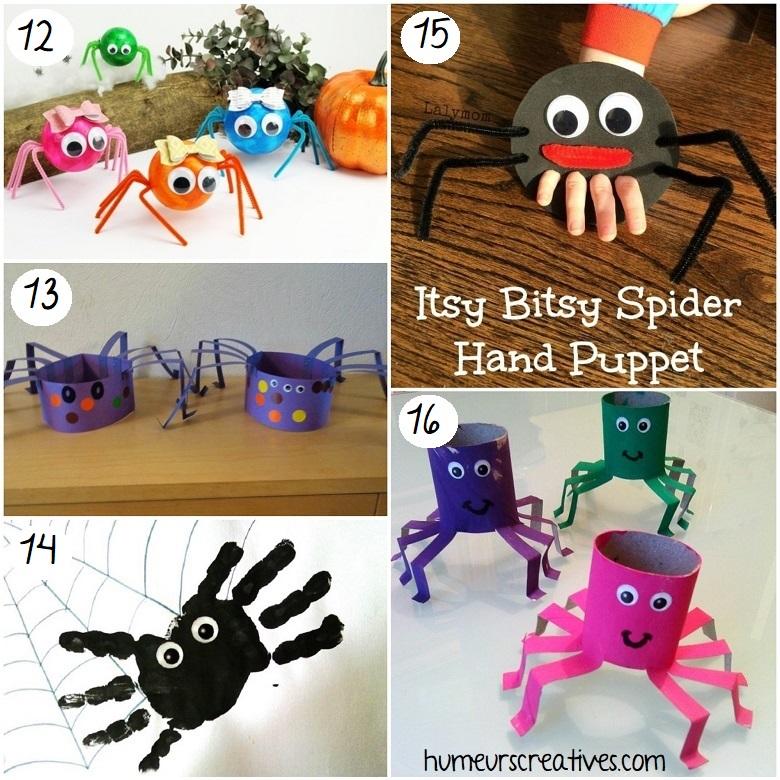 Idées de bricolages d'araignées d'halloween pour les enfants