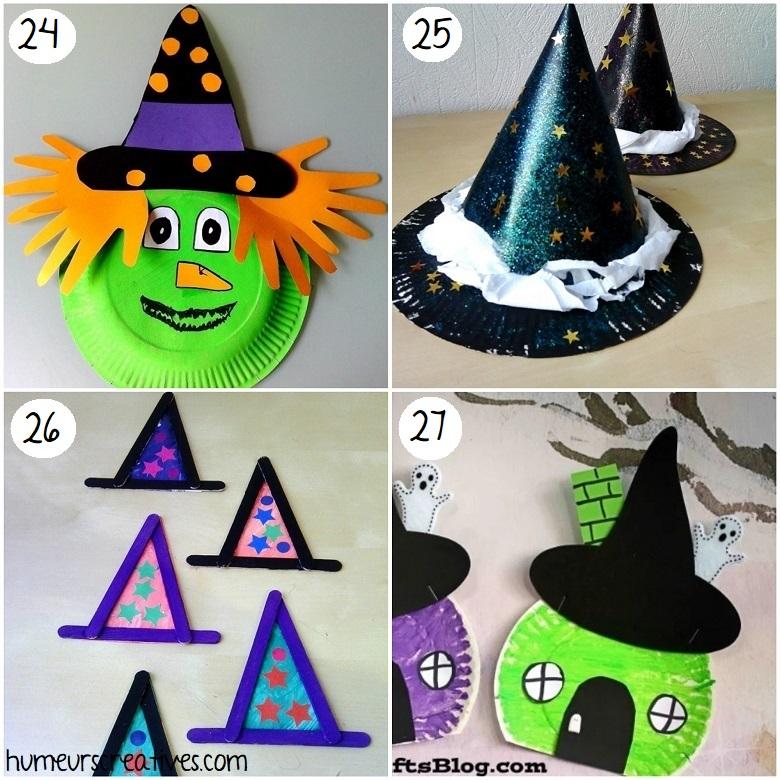 Idées de bricolages de sorcières d'halloween pour les enfants