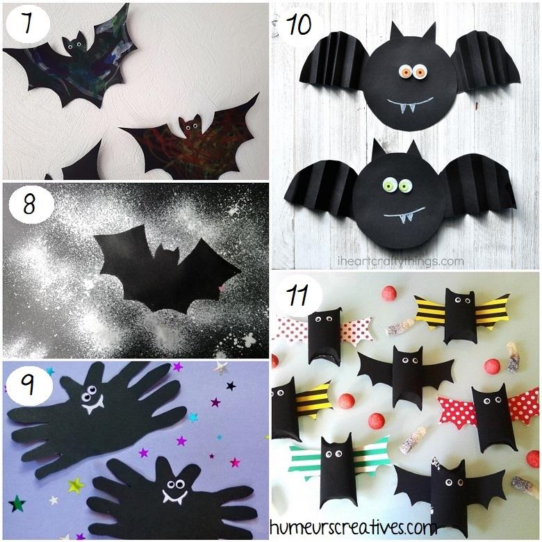 Idées de bricolages de chauves-souris d'halloween pour les enfants