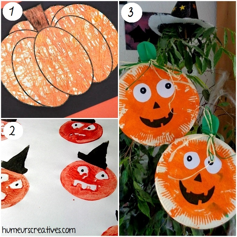 Idées de bricolages de citrouilles d'halloween pour les enfants