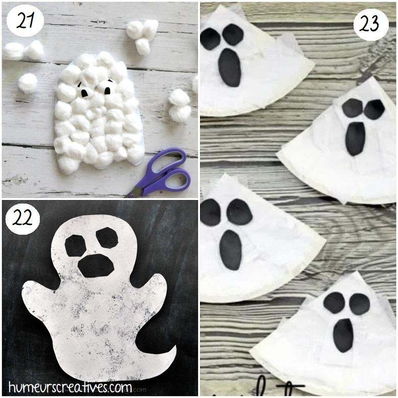 Idées de bricolages de fantômes d'halloween pour les enfants