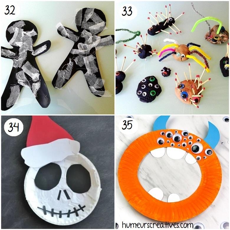 Idées de bricolages de monstres d'halloween pour les enfants