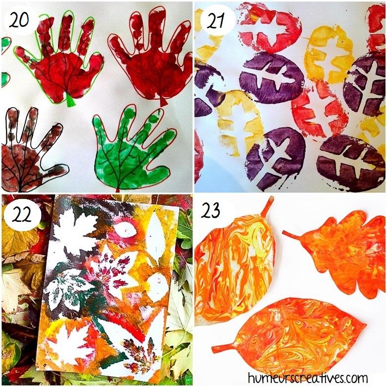 Bricolages d'automne pour enfants : feuilles d'arbre