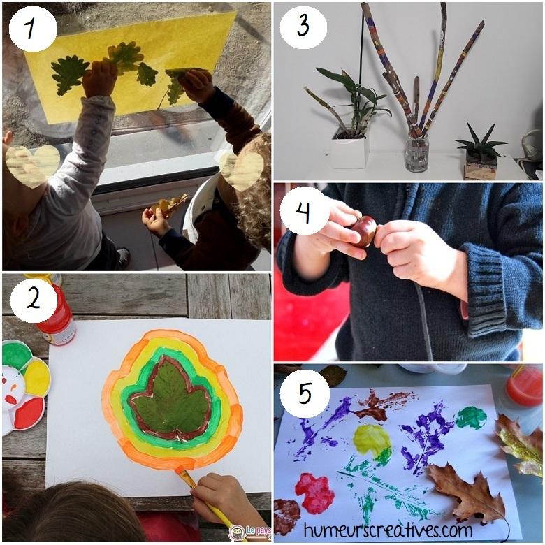 Bricolage d'automne pour les enfants avec les éléments de la nature