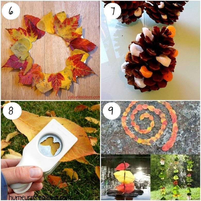 Bricolages d'automne pour les enfants avec les éléments de la nature