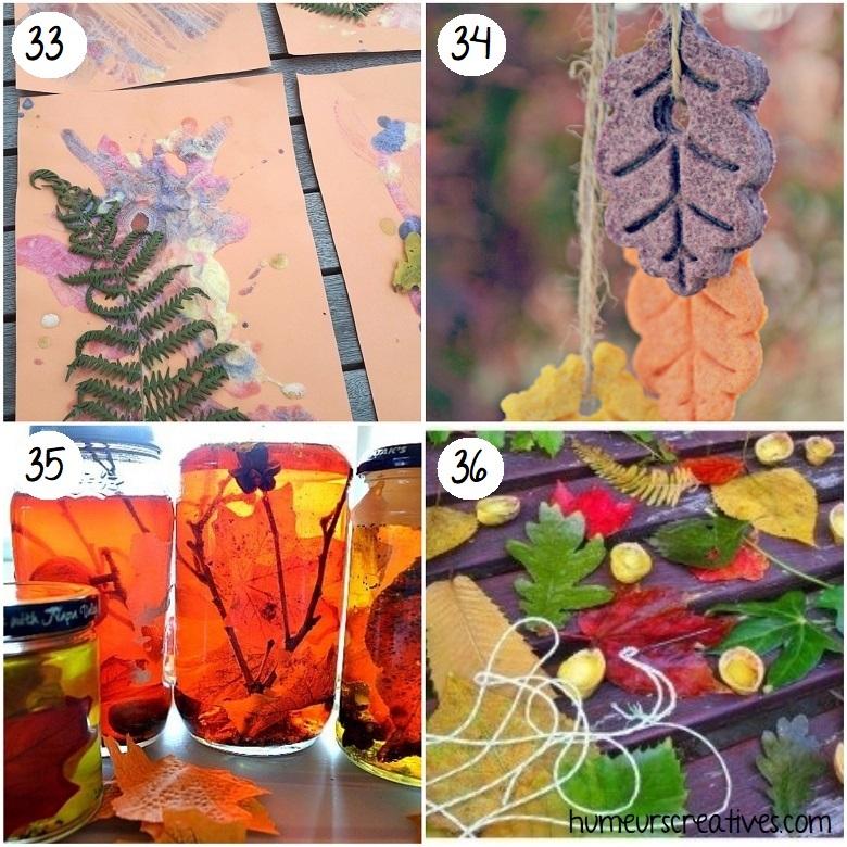 Activités sensorielles sur l'automne pour les enfants
