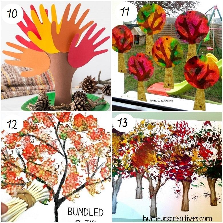 Bricolages d'automne pour enfants : des idées d'arbres d'automne