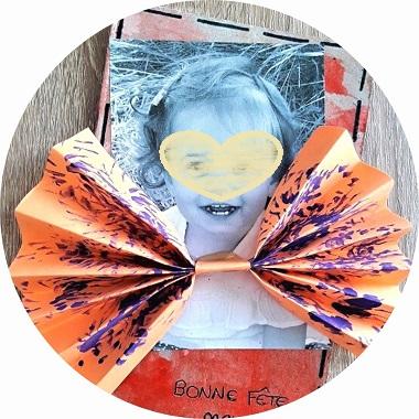 Carte noeud papillon pour la fete des pères ou la fête des papis
