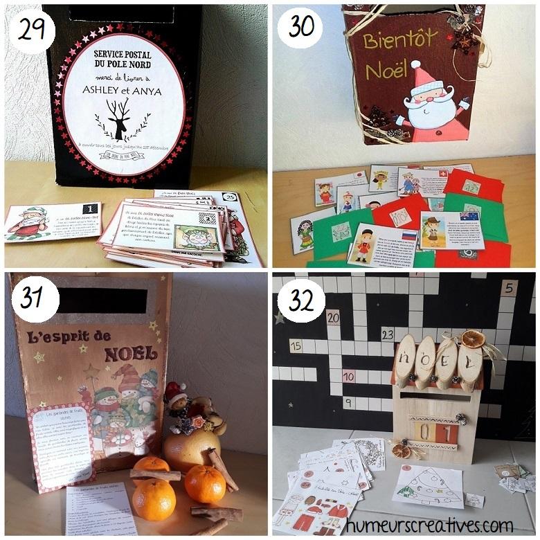 idées de boites aux lettres de l'avent pour enfants
