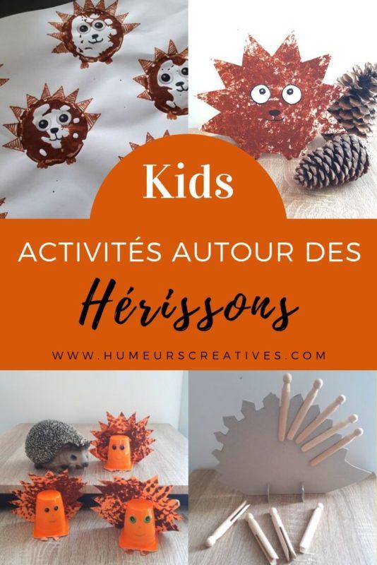Activités et bricolages pour enfants autour du hérisson